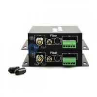 1 Channel Video & 1 Channel Bi-Directional Data to Fiber SM 20km Optical Video Multiplexer
