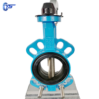 Low price PN16 4inch ductile iron wafer type butterfly valve seal ring thumbnail image