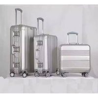 aluminum luggage travel case carry-on suitcase