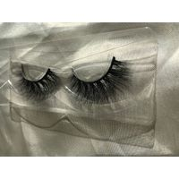 Private label Custom Eyelash Packaging ,100% Real mink fur 3D Mink Eyelashes Strips