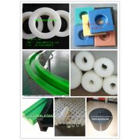 UHMWPE plastic maching parts or components,UHMWPE CNC machined part :Washer and gear and pulley thumbnail image