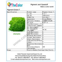 High quality Phthalocyanine Green pigment/Top quality Pigment Green 7/Phthalocyanine Green pigment