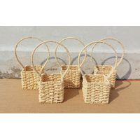 Vintage wicker nesting baskets with handles thumbnail image