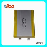 High quality 375876PV Li-polymer batteries cell 3.7V 2400mAh rechargeable battery