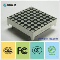 RGB led dot matrix 8*8 indoor