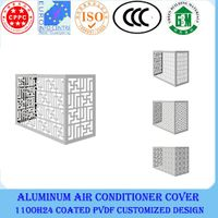 exterior decorative aluminum air conditioner cover