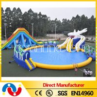 Interesting Above ground Giant Inflatable Swimming Pools for kids water games
