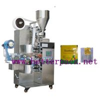 tea bag packing machine for making tea bag with string,tag and outer foil wrapper