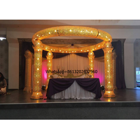 Elegant crystal wedding pillar roman cloumn wedding mandap stage backdrop for sale