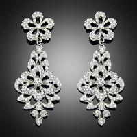 Fantastic New Fashion Women Lady platinum Crystal Drop Alloy Ear dangle earrings Free Shipping Bc020 thumbnail image