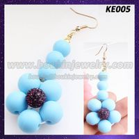 Dangling silicone beaded flower earring jewelry