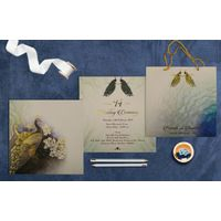 ORNAMENTED PEACOCK THEMED WEDDING INVITATIONS