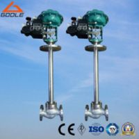Low Temperature/Cryogenic Pneumatic Globe Control Valve with Extended Stem