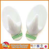 Strong adhesive plastic hooks, Large adhesive wall hooks