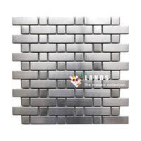 Stainless Steel Metal Mosaic Tiles, Metal Wall and Floor Tiles, Lsmt025.