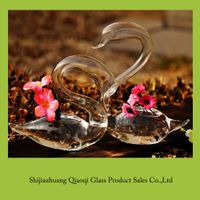 Swan glass vase