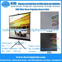 300D PVC Coated Matte White Projection Screen Fabric