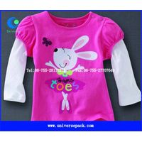 Wholesale  cut & sew long  sleeve  Printed t-shirt  for girl