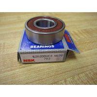 NSK rubber seals deep groove ball bearing 6200 series thumbnail image