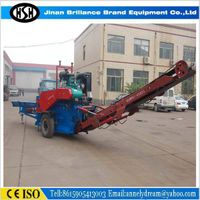 High processing power and durability mobile diesel engine wood chipper