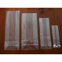 Transparent bopp/opp square block bottom bags with side gusset