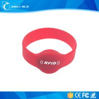 Factory offer high frequency rewritable rfid wristband with chip