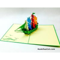 Yacht pop up 3D greeting card