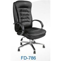 Office Chair with Chrome Base and PU Wheels, Seat Measures 50 x 50cm