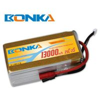 Bonka 13000mah 7.4V 25C/50C lipo battery