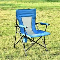 Los Angeles Folding Camping Chairs Portable Lawn Chair with Cup Holder Carry Bag, Blue thumbnail image