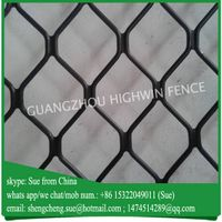 Modern decorative black aluminum window grill amplimesh