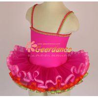 colorful ribbons edged girls leotard dance ballet tutu 15C0017 thumbnail image