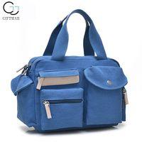 Womens Vintage School Fashoin Shoulder Bag, Canvas Messenger Bag