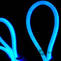 LED blue neon light in flexible rope