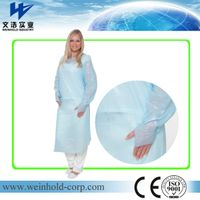 CPE impervious disposable hospital protection cpe isolation gown
