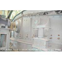 USED FURUKAWA 7FT X 18FT HORIZONTAL TYPE VIBRATING SCREEN (1 DECK) S/NO. 01494 WITH MOTOR thumbnail image