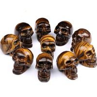 Tiger Eye skull Stone Jewelry Words Logo pendants