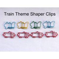 Train shaped clips