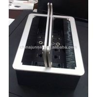 Multifunctional Tabletop Hidden Telephone Socket Outlet With Brush For Meeting Room thumbnail image