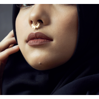 Nose ring gold plated