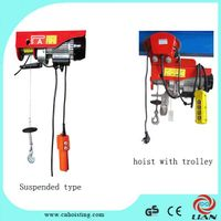 PA mini running type electric wire rope hoist.