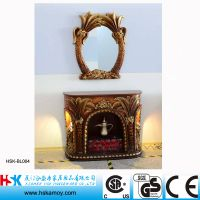 Decorative Fireplace, Resin Sculpture Fireplace, Free Standing Fireplace, Living Room Fireplace