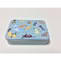 2017 new lovely dog sationery gift factory wholesale tin box
