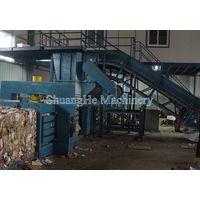 Automatic 125 tons horizontal non-ferrous baler