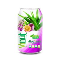Cans Fresh Aloe vera drink with Passion fruit Juice 330ml (Pack of 24) thumbnail image
