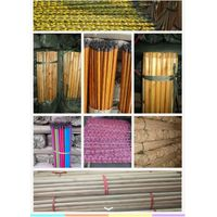 pvc covered Iron/ metal/wooden broom handles/sticks