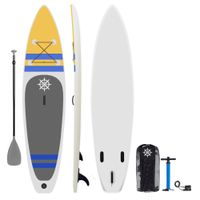 Explorerboards P10 11' long inflatable stand up paddle board package