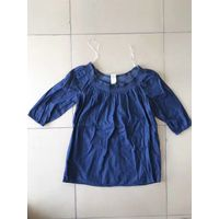 sell ladies denim woven s/s top