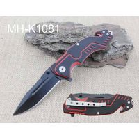 High Quality Black and Red G10 Handle Pocket Knife