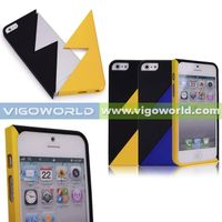 Lightning Jigsaw Rubberized PC Montage Case For iPhone 5
